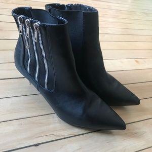 Three Zipper Heeled Boots
